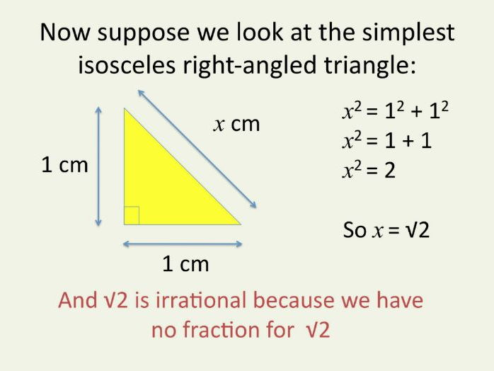 Maths GCSE Foundation & Higher. Surds and irrational numbers. Clear, simple PowerPoint introduction.
