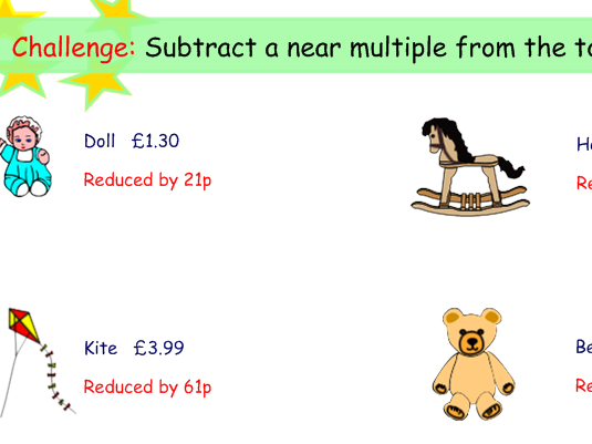 fun money activities - Adding / Subtracting multiples of 10 and more (KS1)