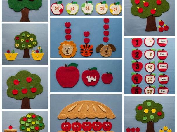 Apple Harvest Felt Board Pattern eBook