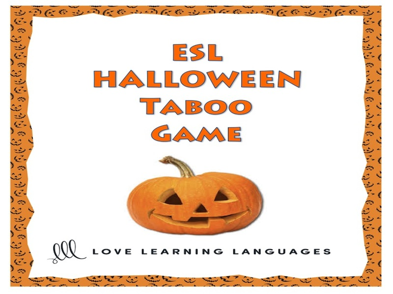Halloween - ESL Taboo Speaking Game