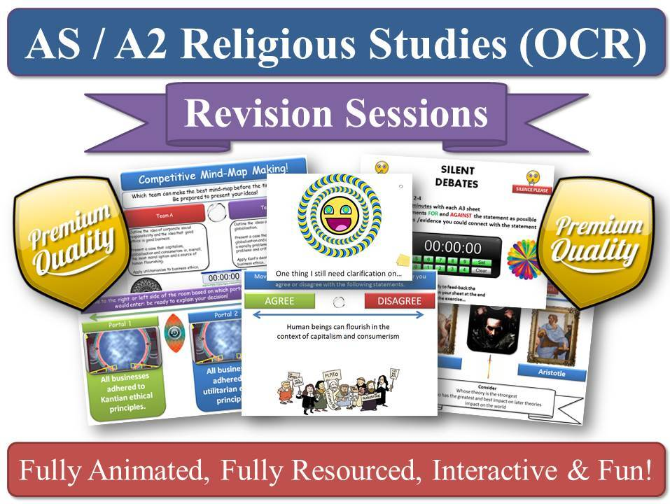 Christianity - Revision Sessions (x6) [AS-level OCR Religious Studies, New Specification] 6 Lessons - (The Person of Jesus Christ, Augustine on Human Nature, Christian Moral Action, Christian Moral Principles, Death & The Afterlife, and Knowledge of God's Existence) - COMPLETE SET