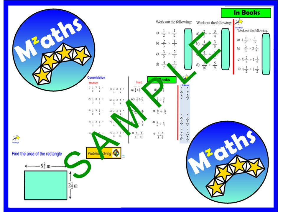 Fractions (2 Lessons) - Multiplying and Dividing