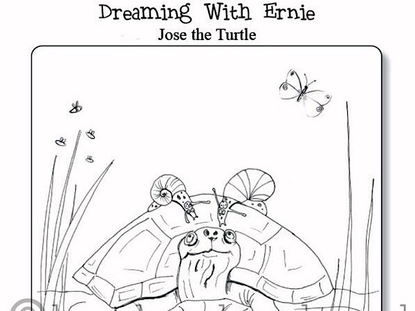 Colouring Sheet - 'Jose the Turtle'
