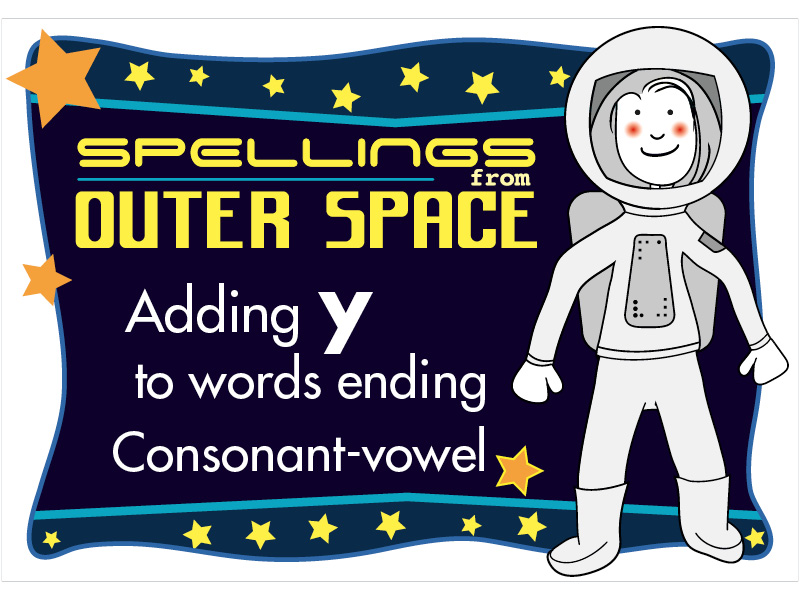 Year 2 Spellings Adding Y to words ending with consonant-vowel