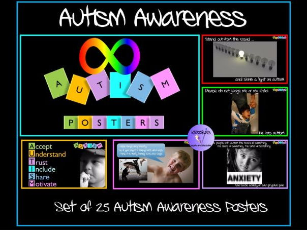 Set of  25 Autism Awareness Posters - Ideal for Autism Awareness Day / Week