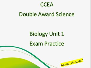 CCEA DA Science Biology Unit 1 Exam Booklet