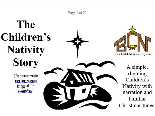 Rhyming Children's Nativity & Christmas Story Poem