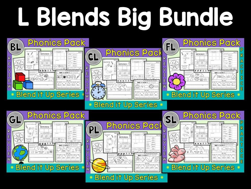Phonics:  Phonics Mega Pack of L Blends