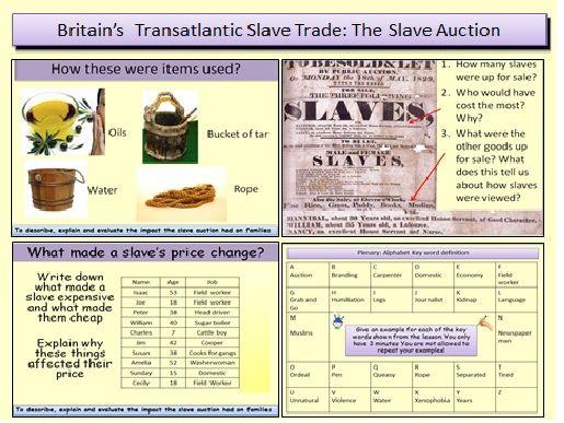 Britain's transatlantic slave trade: The Slave Auction