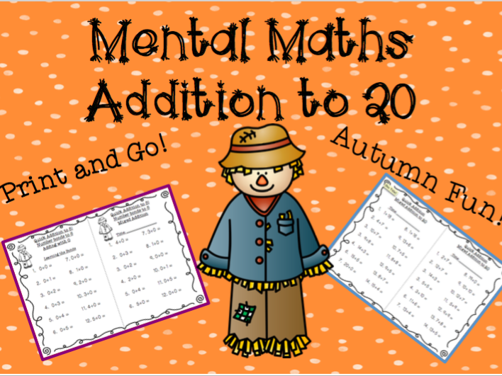 Mental Maths Addition to 20 Autumn Themed Pack