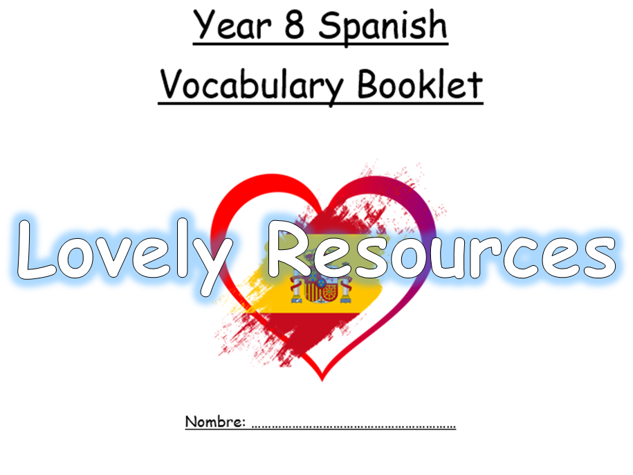 Spanish Year 8 Vocabulary Booklet