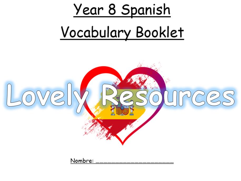 Spanish Year 8 Vocabulary Booklet