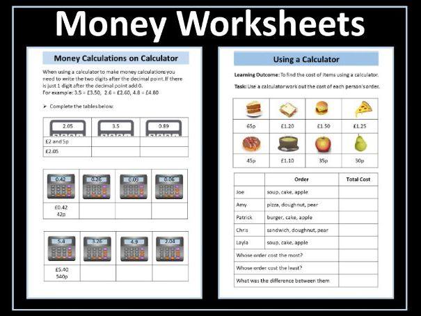 Money Worksheets - Entry Level 3