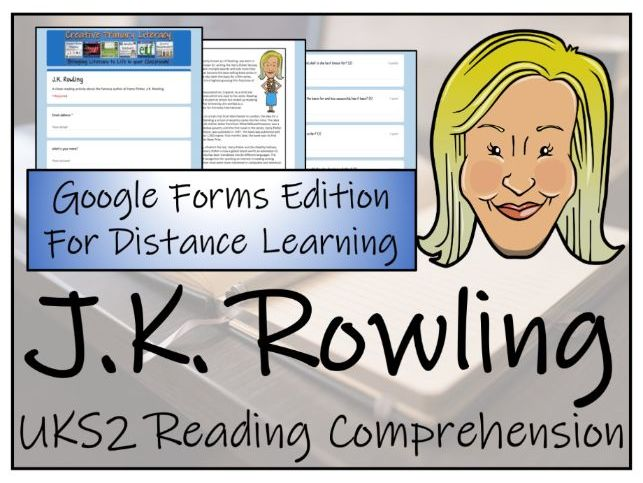 UKS2 J.K. Rowling Reading Comprehension & Distance Learning Activity