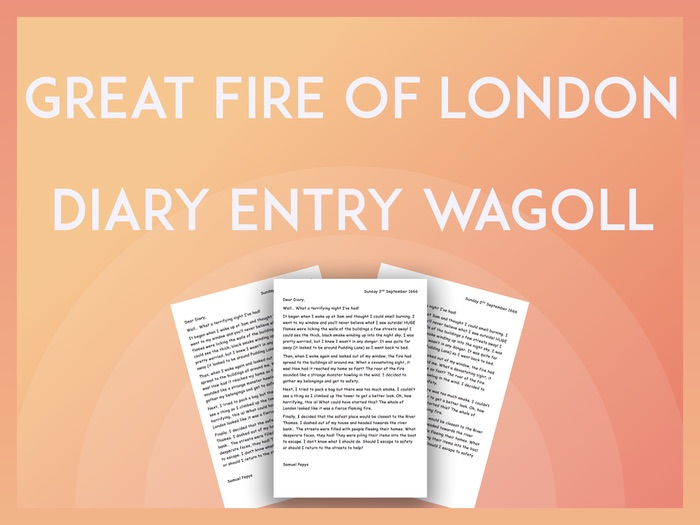 Great Fire of London Diary Entry - Year 2 KS1
