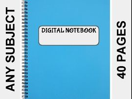 Digital Notebook For Any Subject (40 Pages - Google Slides)