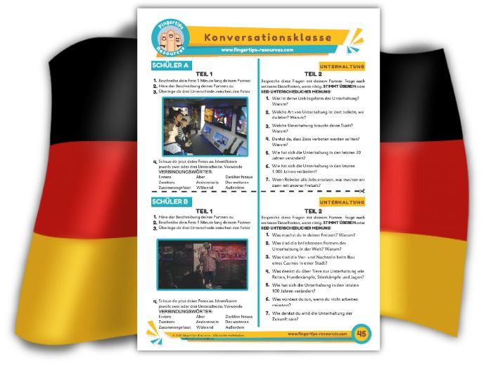 Unterhaltung - German Speaking Activity