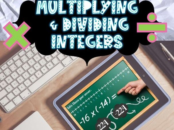 Adding, Subtracting, Multiplying, and Dividing Integers BOOM CARD *BUNDLE*
