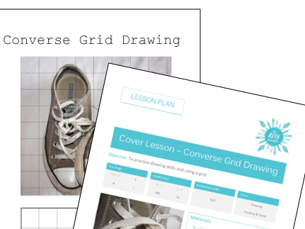 Converse Shoe Grid Drawing (Cover Sub Lesson)