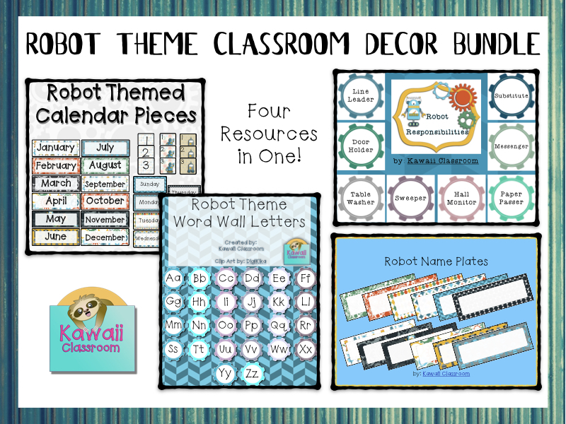 Robot Theme Class Decor Bundle