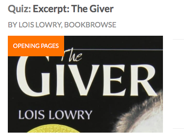 The Giver: Teaching & Homework Resources: Chapter 1 Vocab List & Comprehension Quiz