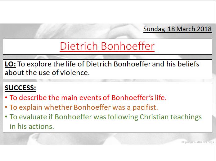 DIETRICH BONHOEFFER LESSON