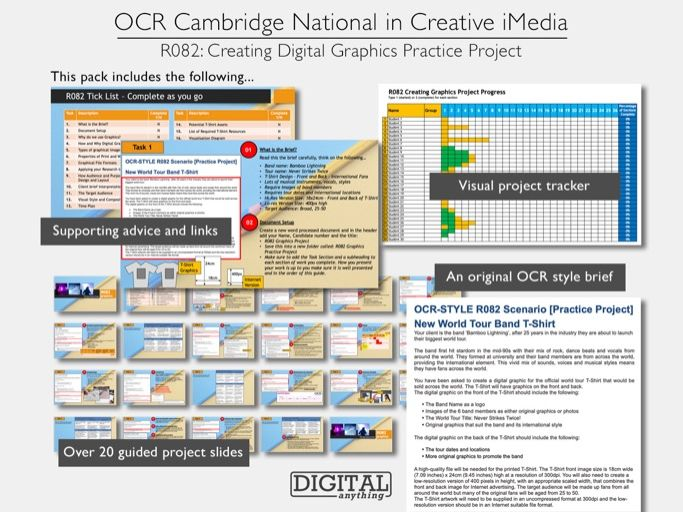 Cambridge National in Creative iMedia R082: Creating Digital Graphics Practice Walk-through Project