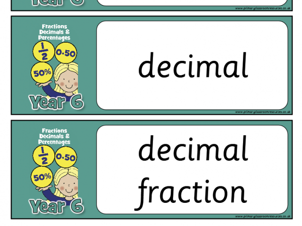 Year 6 Maths Vocabulary Pack