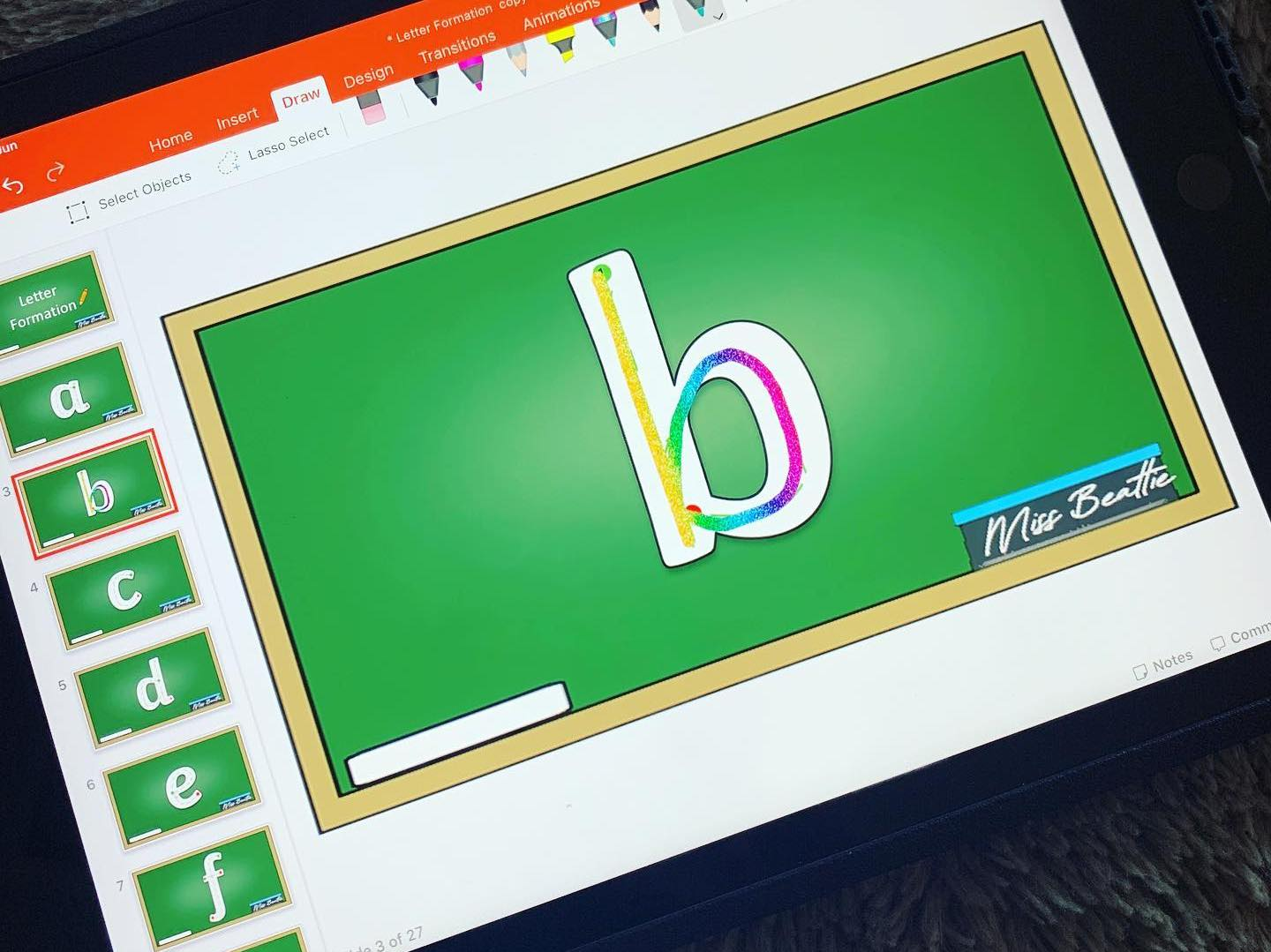 Letter Formation Practise Powerpoint