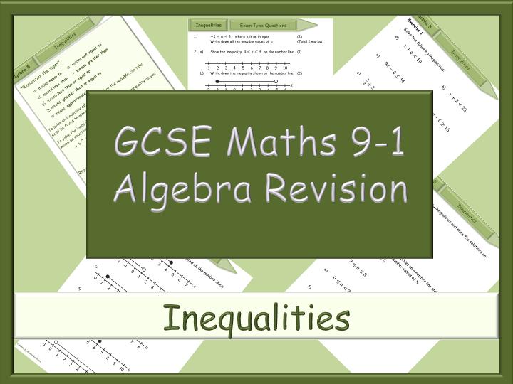 GCSE algebra revision 9-1 - Inequalities