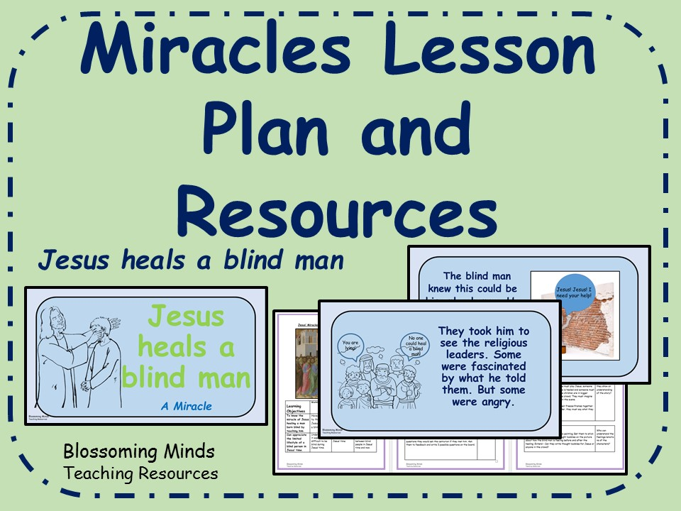 KS2 RE Lesson Plan and Resources - Jesus's Miracles - Jesus heals a blind man
