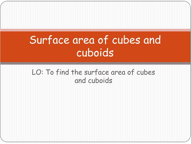 Surface area of cubes and cuboids - KS3