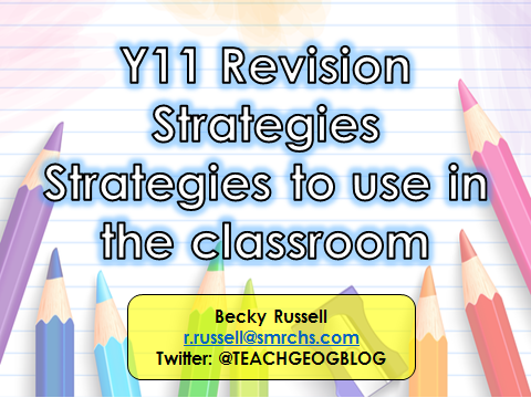 Year 11 Revision Strategies for GCSE Geography AQA