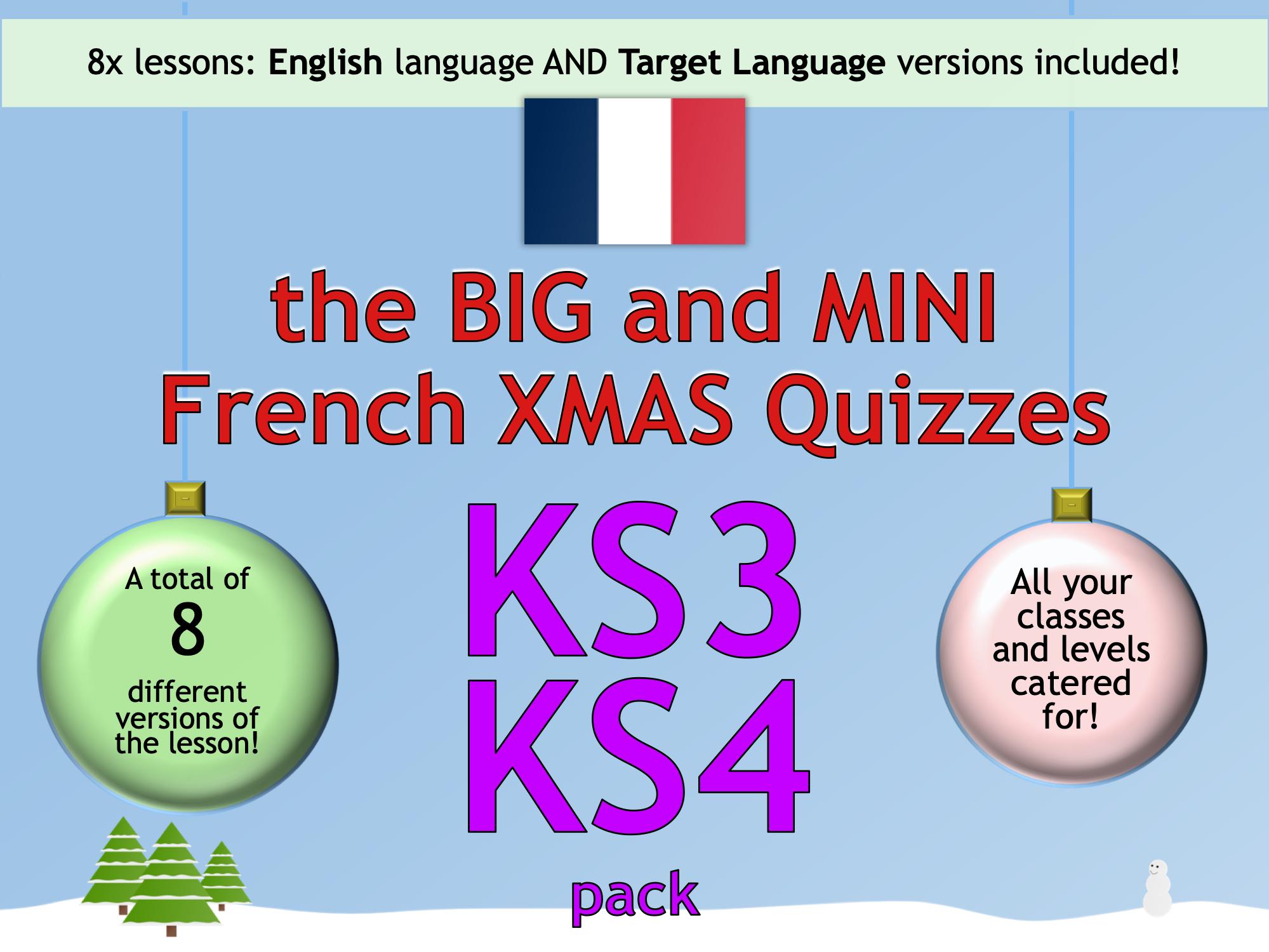 The BIG & MINI French Christmas Quiz (KS3/KS4)