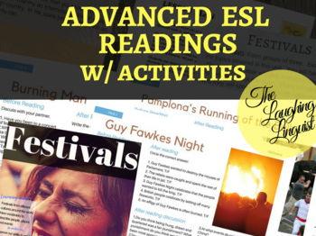 ESL Reading Bundle w/ Full Lesson Plans: Festivals