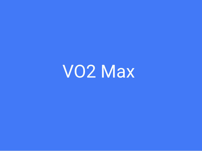 VO2 max A-Level Content (2-3 lessons to cover)