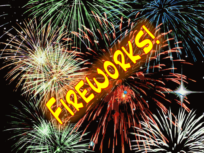 KS2 English.  Fireworks themed comprehension plus presentation and worksheet on capital letters.