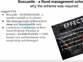 GCSE UK Boscastle flood management scheme