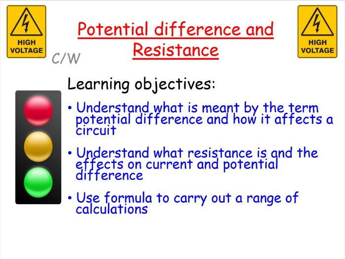 New AQA GCSE Physics: Potential difference and resistance