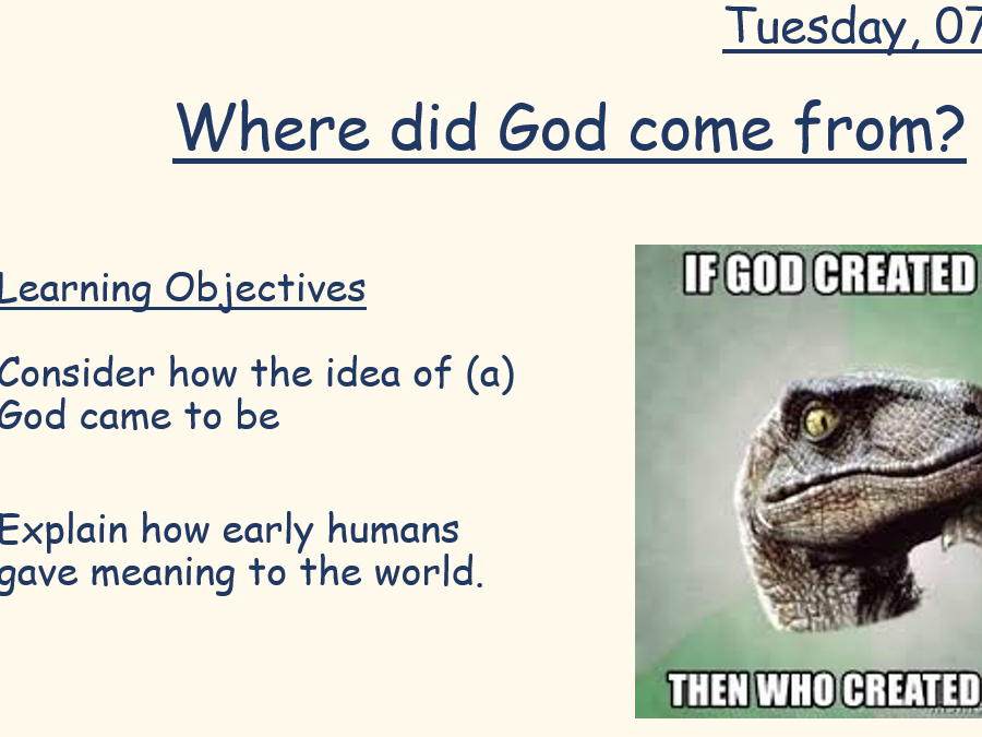 Where did god come from?