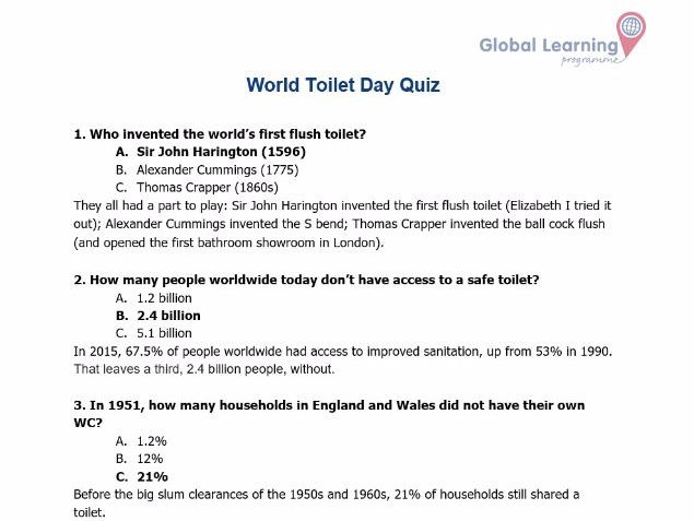Free resource to support World Toilet Day