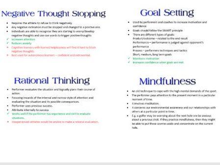 Stress Management Booklet OCR PE A2