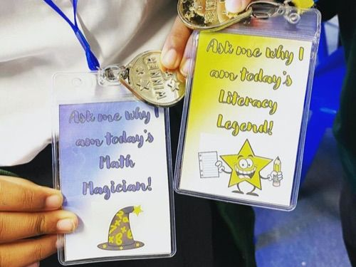Math Magician and Literacy Legend lanyards