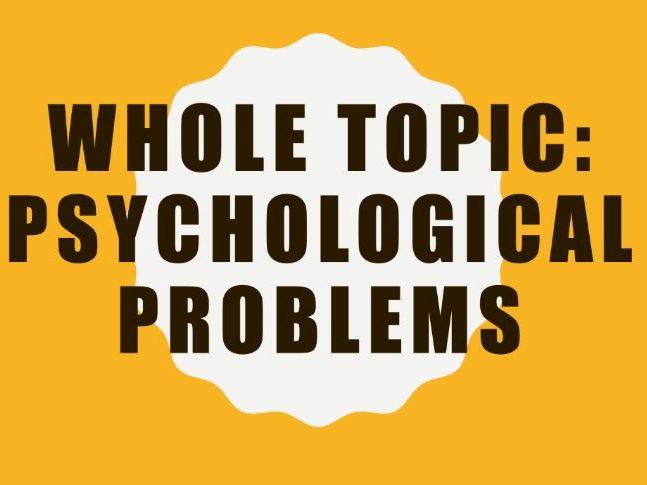 AQA GCSE Psychology (New Syllabus) -x6 Lesson Bundle -Psychological Problems