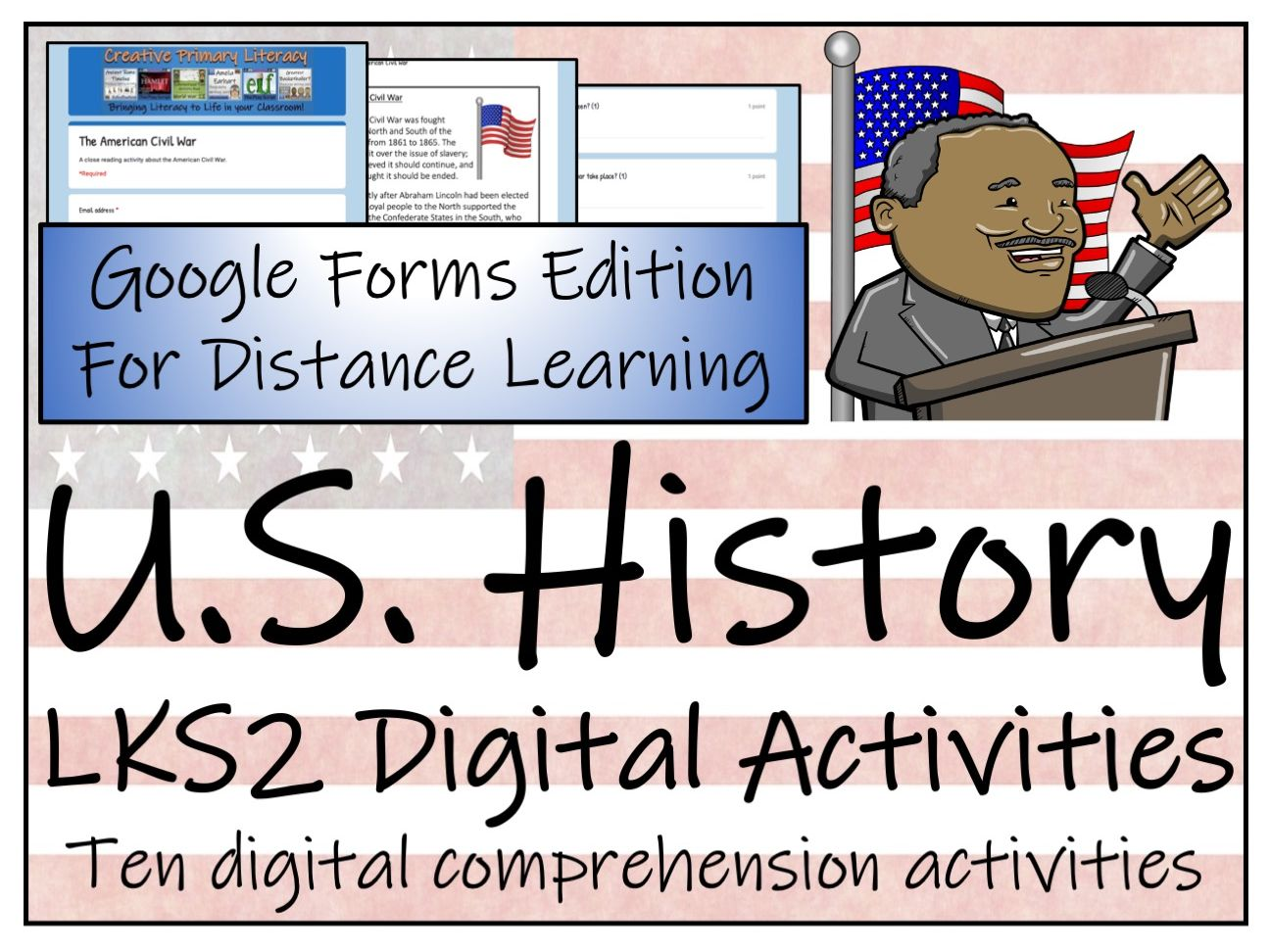 LKS2 U.S. History Reading Comprehension & Distance Learning Bundle