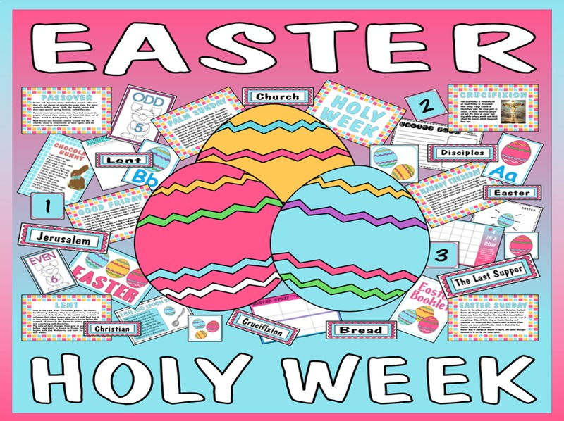 EASTER HOLY WEEK TEACHING RESOURCES EYFS KS 1-2 CHRISTIAN FESTIVAL ...