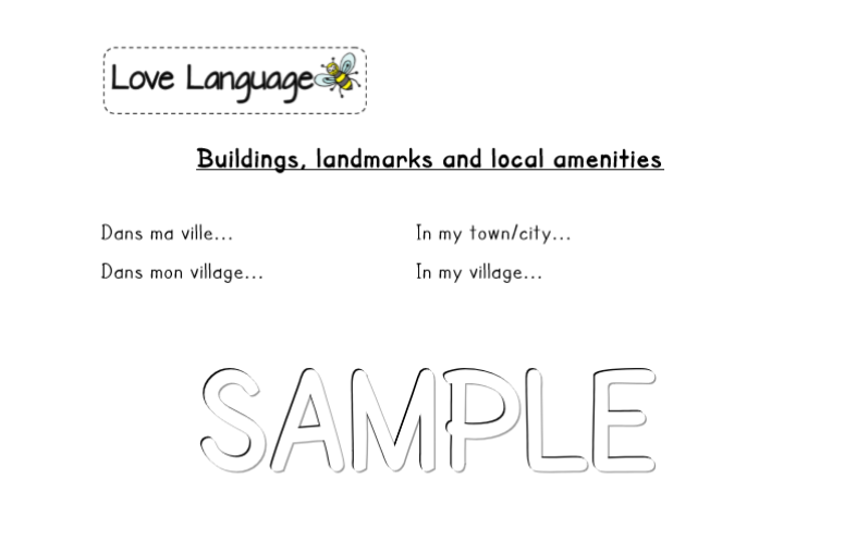 French Local Community - Buildings, landmarks and local amenities - vocabulary