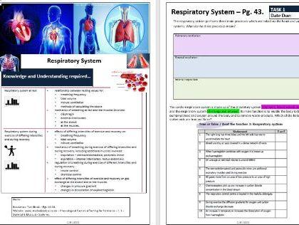 OCR A Level PE - Anatomy and Physiology ILT2 - Respiratory & Cardiovascular Systems