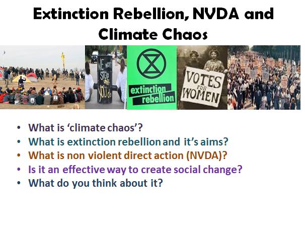 Climate Change, Extinction Rebellion and Non-Violent Direct Action