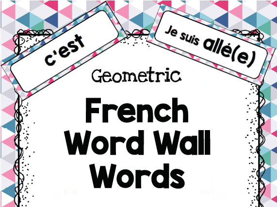 French WORD WALL - beginner learners